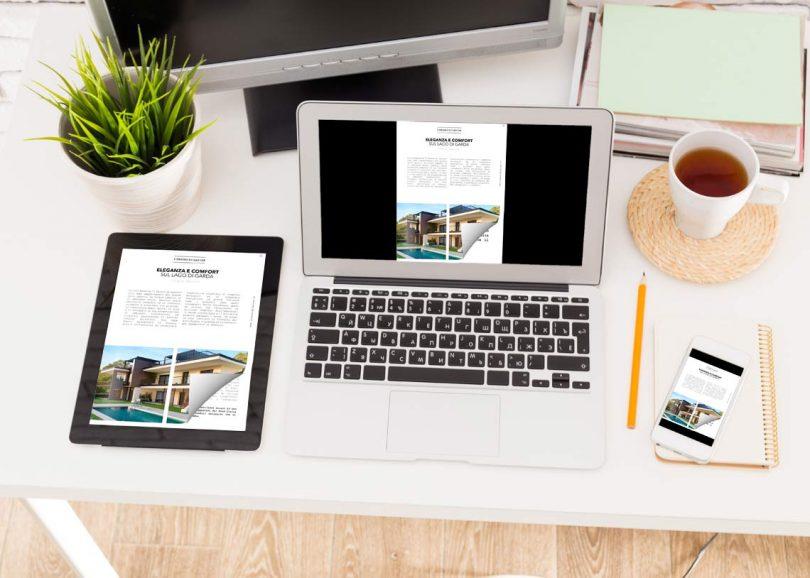 Come fare un flipbook sul laptop e tablet con un effetto di capovolgimento di pagina